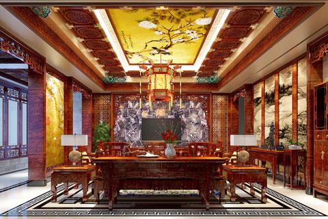 安岳精品住宅古典中式装修案例,谦虚而高逸