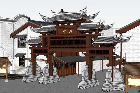 湖南省浏阳市官渡牌坊设计 钟慧毓华 高雅于此