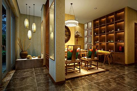 北京华侨城茶楼中式装修,不仅优雅更体现和谐美