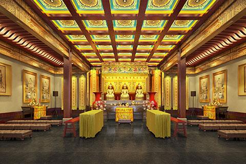 北京门头沟清水禅寺寺院装修设计方案,禅意尽头见真佛