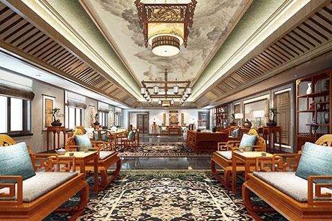新疆办公室中式装修,古朴典雅中透出的文化风情