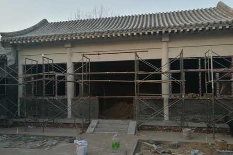 北京大兴老房改造四合院自建施工现场