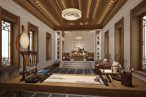 中华百园别墅新中式风格,清幽简净古朴高雅