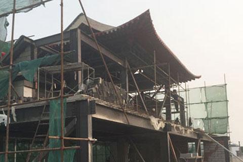 北京王四营四合院装修施工现场