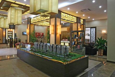 新中式售楼处装修效果图,高档奢华富有内涵