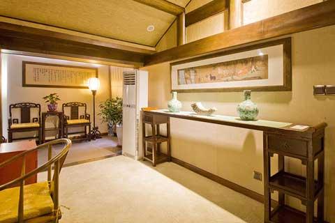 北京密云某中式风格民宿酒店装修设计案例